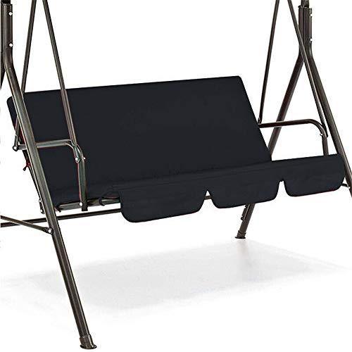 CSYP - Funda de edredón para silla de jardín de 3 plazas (150 x 150 x 10 cm), negro, 150*150*10cm