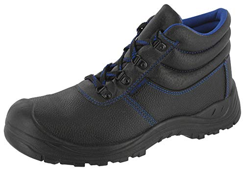 Veiligheidslaarzen S3 veiligheidsschoenen werklaarzen werkschoenen maat 37-50 super licht voor bouw, landbouw en hobby, super pasvorm door breed voetbed, aantrekkelijk design (44)