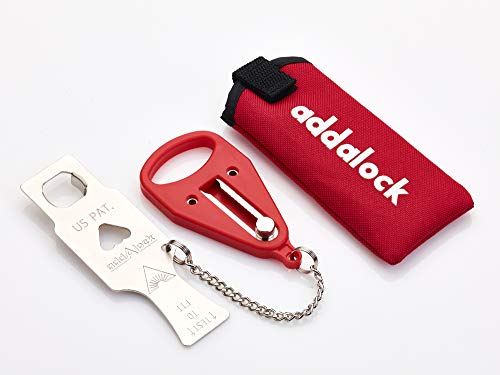 Addalock - (1 Piece ) The Original Portable Door Lock, Travel Lock, AirBNB Lock, School Lockdown Lock