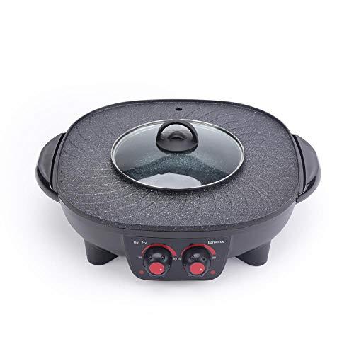 Multifunktionale BBQ hot Pot Double Pot,Elektrische hot Pot, Elektrische Barbecue Grill, Elektrische Backblech ist bequem und stilvoll-One-Piece-shabu-Europäischer Standard