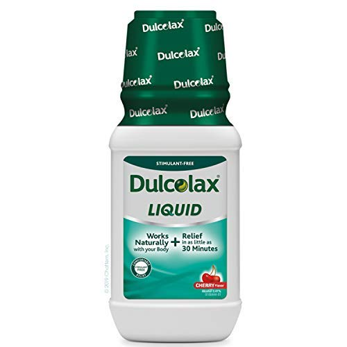 Dulcolax Liquid Saline Laxative Cherry (12 oz.) Stimulant Free Laxative for Gentle Relief
