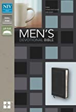NIV, Men's Devotional Bible, Compact, Leathersoft, Black