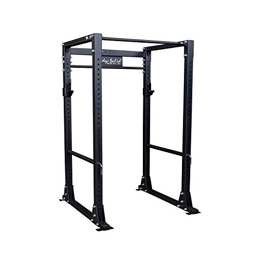 Body-Solid GPR400 Power Rack with 1000 Lb. Weight Capacity for Squats, Deadlifts, and Weightlifting Workout, Black