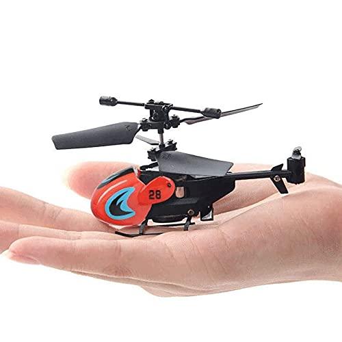 ZLMFK Mini Drone Portable Flying RC Helicopte Juguete de Control Remoto con Luces Gyro Helicóptero con iluminación LED Control Remoto Intermitente Niños Adultos Volver Flying Toys