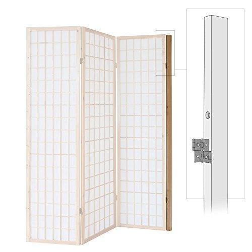 Homestyle4u 1109, Wandhalterung Raumteiler, Wandhalter Wandbefestigung Paravent, Natur