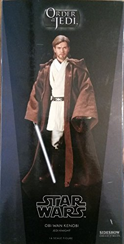 Star Wars Sideshow Exclusive Order of The Jedi Episode II: Attack of The Clones OBI-WAN Kenobi Jedi Knight Deluxe 12 Inch 1/6 Scale Action Figure