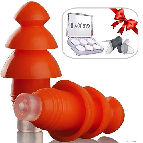 Ear Plugs Silicone Reusable - EarJoy Noise Reduction...