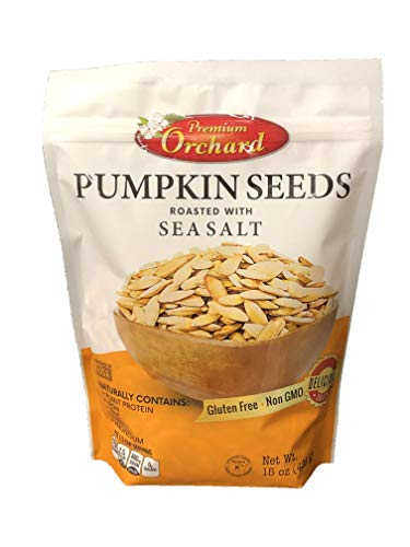 Premium Orchard - Pumpkin Seeds Oven Roasted with Sea Salt (3 Bag - VALUE PACK) - KETO Friendly, All Natural, Non GMO, Plant Protein, Vegan