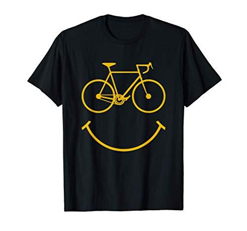 Funny Cycling Biking Bicycle Cyclist Bike Themed Smile Gift T-Shirt
