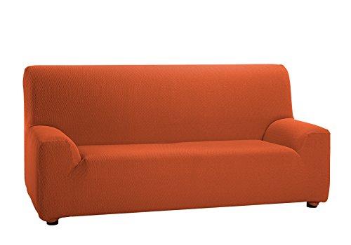 Martina Home Tunez - Funda elástica para sofá, Naranja, 3 Plazas (180-240 cm)