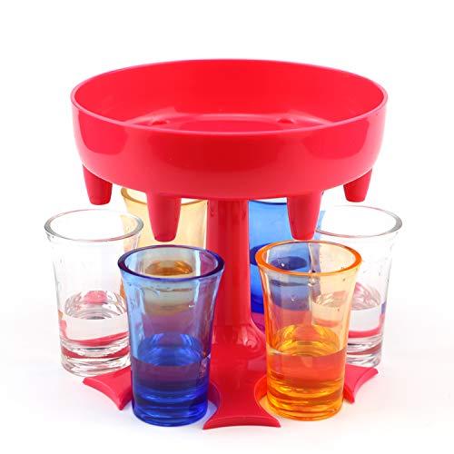 Dispensador de Vino para, Dispensador de bebidas con soporte, Dispensador de licor, Dispensador de vasos de chupito, Dispensador de Vino para Cócteles, Juegos de beber