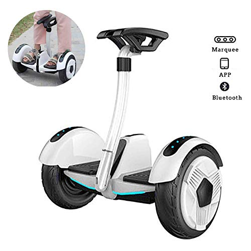 """Electric Scooter,Self Balancing Scooter 10"""" Two Wheel Smart Self Balance Scooter 700W Motor with Led Flash Wheels, Built in Bluetooth Speakers Best Gifts for Kids,White,White JIAJIAFUDR"""