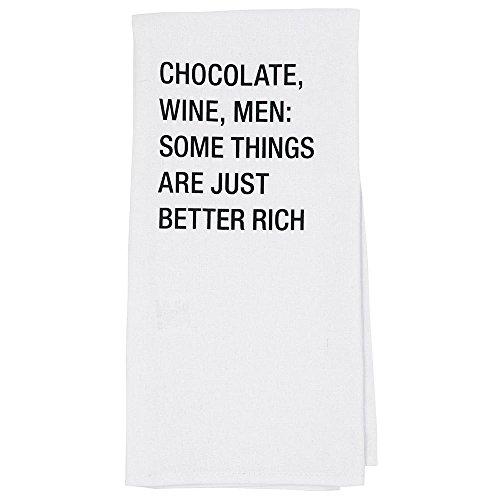 Over Gezicht Over Chocolade Wijn Mannen Theedoek, Katoenmix, Multi-Colour, 48 x 69,5 x 1 cm