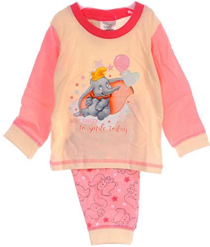 Dumbo Schlafanzug Elefant Baby Pyjama Set 68 74 80 86 92 Shirt Hose Disney Anzug (86-92)