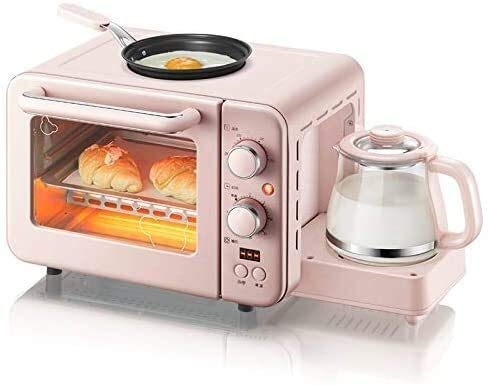 LeBsun Toasters Multifunction 3 In 1 Breakfast Machine Toaster 8L Electric Mini Oven Cake Maker Eggs Frying Pan Household Bread Pizza Oven Grill