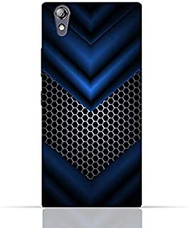 Lenovo P70 TPU Silicone Case With Abstract Blue Mesh Pattern Design