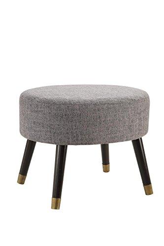 Convenience Concepts Designs4Comfort Mid Century Ottoman Stool, Gray Fabric
