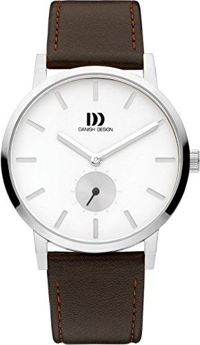 Danish Design Herren Analog Quarz Uhr mit Leder Armband IQ29Q1219