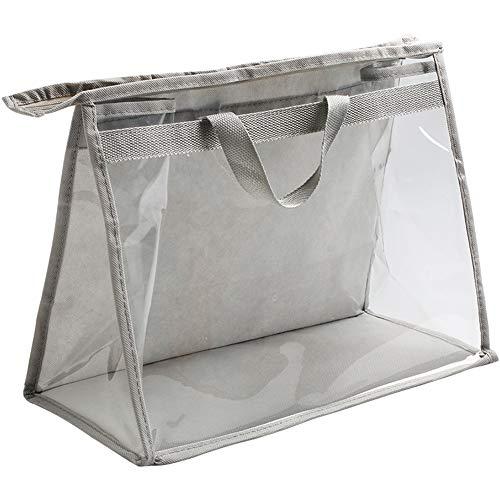Bolso de la cubierta del polvo del bolso, bolso a prueba de polvo Armario Bolsa colgante Bolsa de almacenamiento Pvc Transparente Bolsa de cuero impermeable Protección Bolsa (L)
