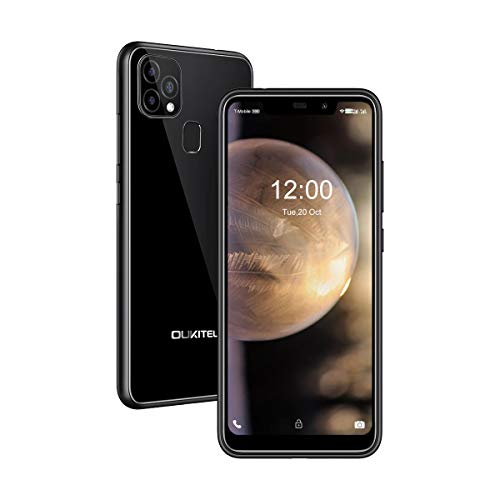 Unlocked Cell Phone OUKITEL 2021, 4G Dual SIM Smartphone, Support AT&T, T-Mobile, 4GBRAM+128GBROM Android 10 4000mAh Mobile Phone C22,5.83 Inch HD+ Rear 3 Camera,Face ID & Fingerprint ID丨BLACK