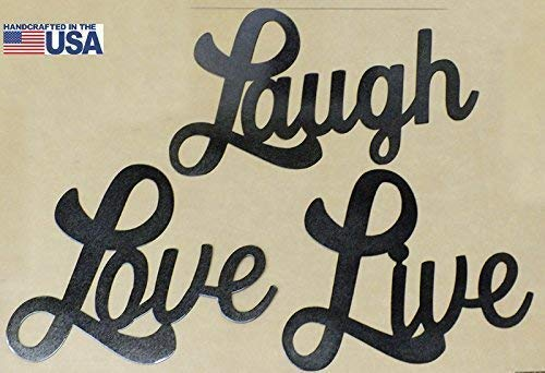 Amazon Com Live Laugh Love Wall Art Set Of 3 Metal Signs Great Gifts Photo Wall Handmade
