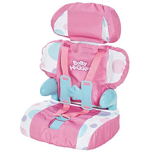 Puppen Autositz Kindersitz Transportsitz Babyschale für Spielzeug Puppe Babypuppe Funktionspuppe Sitz Stuhl Puppenstuhl Puppensitz Puppenmöbel Puppenwagen Puppen Zubehör Pink Rosa Puppen bis 46 cm