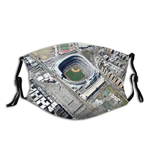 Fashionable Windproof Anti-Dust Mouth Mask, Aerial Yankee Stadium New York Washable Reusable Windproof, Reusable And Washable For Adult Face Cover