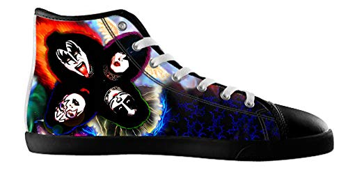 Men's Rock Band kiss White High Top Canvas Shoes Rock Band kiss Canvas Shoes