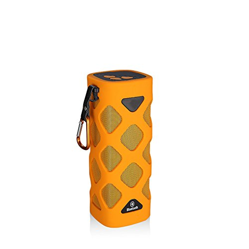 QAZWSX Bluetooth Lautsprecher Wasserdicht Im Freien, 2000Mah, USB, Ride Row Subwoofer,Orange