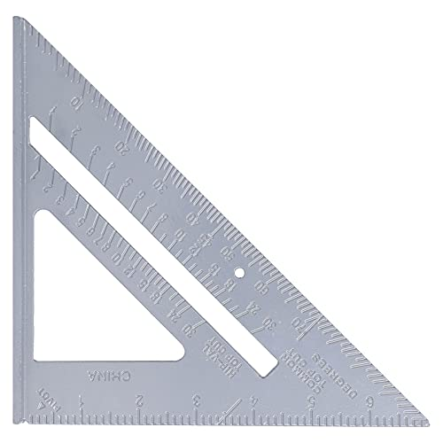 Transportador de dibujo cuadrado de carpintero, regla duradera para herramientas de medición engrosadas