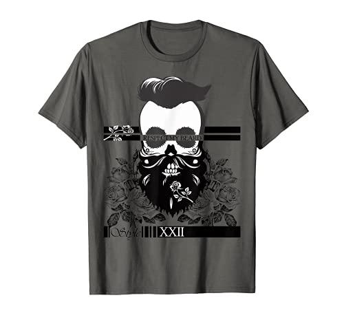 Hombre bigote, barba, hombres, vestido, barba, cara, gafas de sol, hipster Camiseta