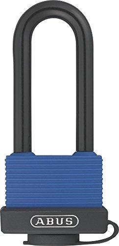ABUS Messing-Vorhangschloss 70IB/45HB63 Hochbügel 36609, verschiedenschließend, blau
