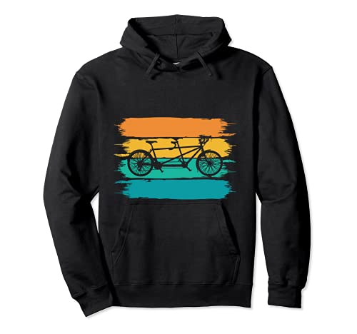 Retro-Tandem-Fahrrad-T-Shirt Pullover Hoodie