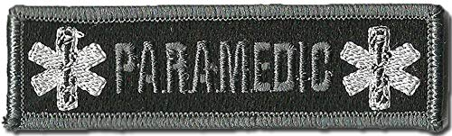 Paramedic Tactical Morale Patches - Black