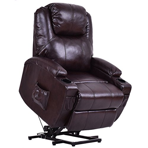 Giantex Electric Lift Recliner Chair Padded Seat