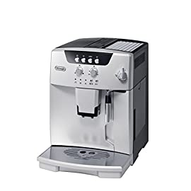 De'Longhi ESAM04110S Magnifica Fully Automatic Espresso Machine with Manual Cappuccino System Silver 3 Thermo Block technology provides excellent heat distribution Integrated burr grinder with adjustable settings Consistent brewing every time