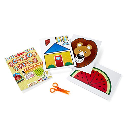 Melissa & Doug Scissor Skills Activity Book (Animal & People Play Set, Pair of Child-Safe Scissors Included, 20 Pages, Great Gift for Girls and Boys - Best for 4, 5, 6, and 7 Year Olds)