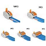 Festnight Juego de conectores de cables ignífugos Terminales de instalación rápida del kit de conectores de cables eléctricos rápidos universales