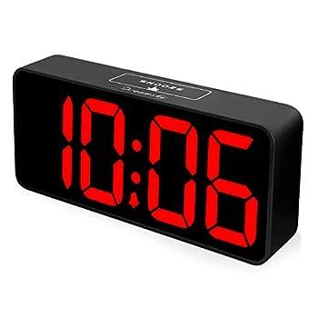 DreamSky Large Digital Alarm Clock for Visually Impaired - 8.9 Inches Large Digital Clock for Bedroom Fully Adjustable Dimmer Jumbo Number Display USB Ports 12/24H Snooze Adjustable Alarm Volume