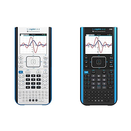 Texas Instruments TI-Nspire CX II Color Graphing Calculator with Student Software (PC/Mac) & TI-Nspire CX II CAS Color Graphing Calculator with Student Software (PC/Mac)