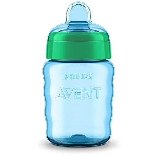 Philips Avent SCF553/05 - Vaso con boquilla de silicona para niño, válvula antigoteo, sin BPA, para 9 meses, 260 ml, color verde