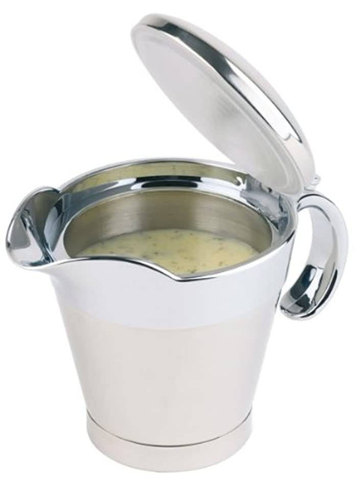 Aps Paderno World Cuisine 13 1/2-Ounce Insulated Stainless Steel Gravy Boat with Spout
