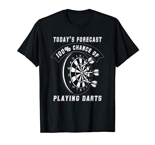 今日の予報ダーツの100%の確率面白いゲーム Tシャツ