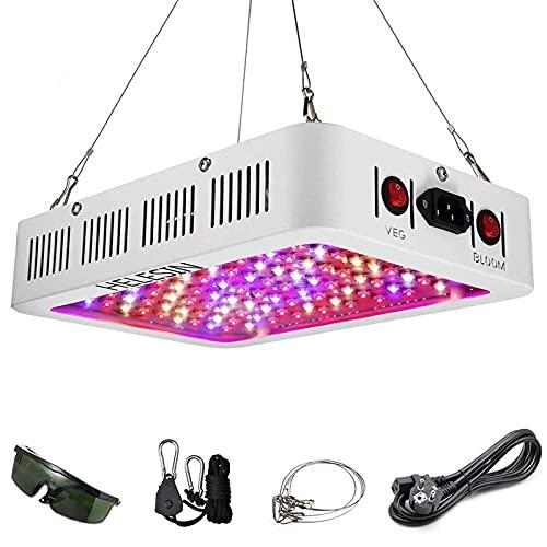 HELESIN 1000W LED Pflanzenlampe mit Veg/Bloom Schalter, Vollspektrum LED Grow Light, LED Pflanzenlicht mit Daisy Chain Funktion Pflanzenleuchte für Zimmerpflanzen Gemüse und Blumen