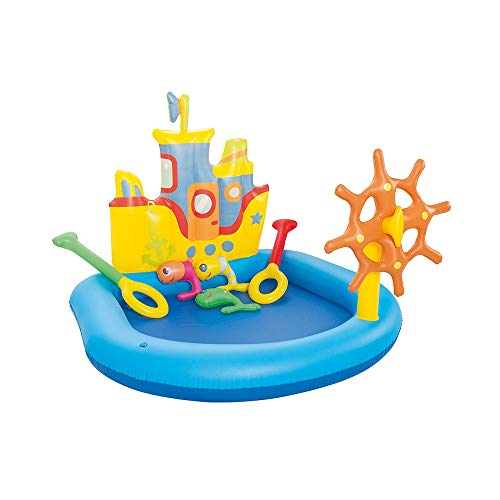 HSAW Aufblasbarer Pool Cruise Ship Planschbecken Pool Bath Ball Pool Cool Summer Family für Garten und Outdoor (Color : Multi-Colored, Size : One Size)
