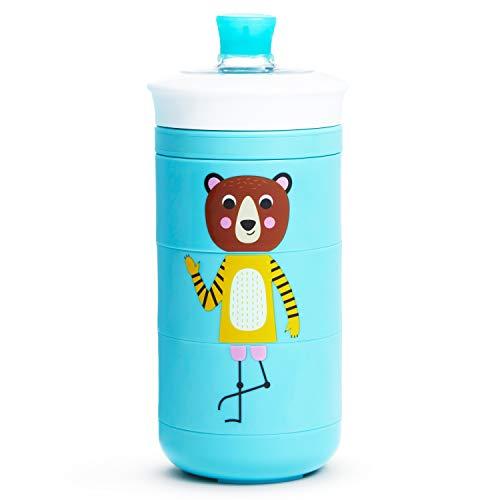Munchkin 051822 Twisty Mix & Match Trinkbecher mit Schnabel und Motiven, 266 ml, blau