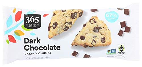 365 by Whole Foods Market, Baking Chunks, Dark Chocolate, 12 Ounce
