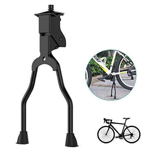 OZUAR Doppelbein Fahrradständer Mountainbike Ständer Fahrrad Zweibeinständer Fahrradparkständer Starke Stabile für Parkplatz oder Reparatur Zink-legierung Schwarz