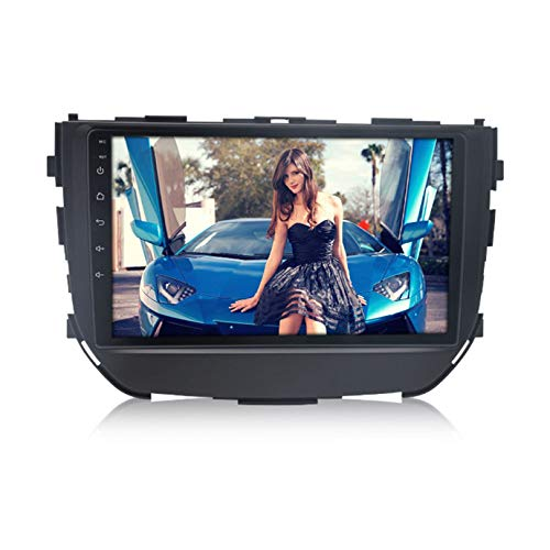 ADMLZQQ Android 10 estéreo 2 DIN Car Stereo Coche GPS Navegacion para Suzuki Breeza 2015- Stereo Radio Admite Salida de Video de Google Play/Mapa en línea,8 Core 4g WiFi 2+32