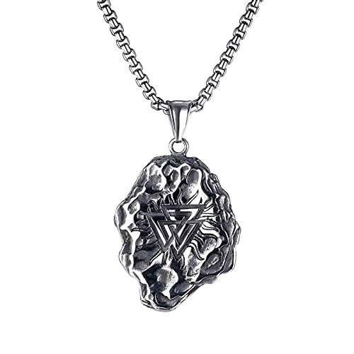 Collar de Brújula Vikinga Para Hombre, Collar Con Colgante Vegvisir, Collar Vegvisir & Valknut, Regalo de Joyería Vikinga